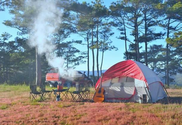 Kinh nghiệm cắm trại ở Đà Lạt – Cắm trại ở đồi Đa Phú